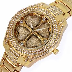 Find More Wristwatches Information about Hot Selling Latest Design A clover  Ladies watch Full Czech Crystals Flower watch Japan Miyota 2035 Water Resistance,High Quality Wristwatches from Fashion jewelry and watches on Aliexpress.com