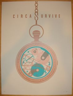 Circa Survive w/ Dredg, Codeseven, and Animals As Leaders - silkscreen concert poster (click image for more detail) Artist: DKNG Venue: House of Blues Location: Anaheim, CA Concert Date: 11/4/2010 Edi
