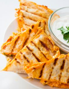 Buffalo Chicken Quesadillas | 23 Buffalo Chicken Recipes You Need To Try