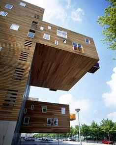 Gravity Defying Homes-Wozoco Apartments (Amsterdam-Osdorp, Holland)