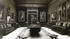 Private Gallery, Lynnewood Hall, Elkins Park, Pennsylvania - From 1915 to 1940, the spectacular art collection at Lynnewood Hall was open to the public by appointment between June and October. In 1940, Joseph E. Widener donated more than 2,000 sculptures, paintings, decorative art, and porcelains to the National Gallery of Art.