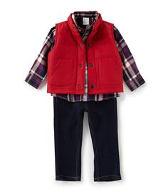 e1bced03a141 Shop for Starting Out Baby Boys 12-24 Months Red Puffer Vest Set at Dillards