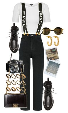 """""""Untitled #11630"""" by nikka-phillips ❤ liked on Polyvore featuring ASOS, Topshop, Chanel, Balenciaga, Etnia Barcelona, Jennifer Fisher and Polaroid"""