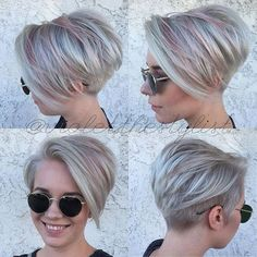 Asymmetrical bob - steel platinum and pastel