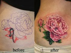 pink rose cover up tattoos egodesigns