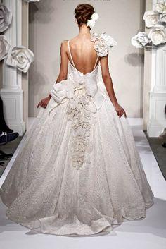 Pnina Tornai exquisite huge detailed princess dress   Just a pretty bride