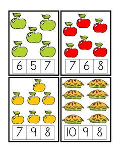 Apple Number Cards