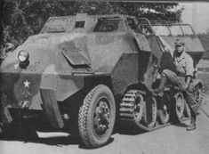Type 1 Ho-Ha armored half-track armoured personnel carrier, near tokyo 1945