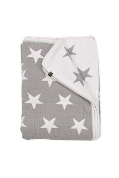 Gant Home Elefantgrå Pläd Star Knit