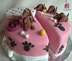 dachshund birthday cake - Google Search