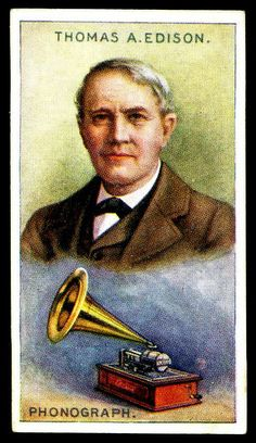 Cigarette Card - Thomas Alva Edison ღ