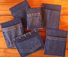 Recycled Denim Mini Journals (Log Books)