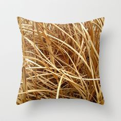 straw Throw Pillow by floracyclam Flora, Throw Pillows, Rugs, Stuff To Buy, Farmhouse Rugs, Cushions, Types Of Rugs, Plants, Decorative Pillows