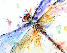 BUTTERFLY Watercolor Art Print Butterfly Painting  by Dean