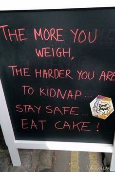 Eat cake - avoid kidnapping