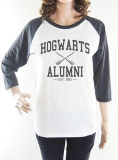 Hogwarts Alumni shirt harry potter shirt women shirt baseball shirt raglan shirt long sleeve shirt size S M L on Etsy, $16.99
