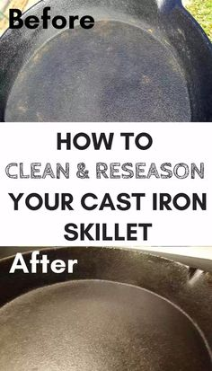 Cast iron skillet cooking: 3 Easy steps to reseason a cast iron skillet Reseason a cast iron skillet easily with these 3 steps. Plus tips for cooking, cleaning, and using your cast iron cookware. Cast Iron Care, Cast Iron Pot, Cast Iron Cookware, It Cast, Cast Iron Skillet Cooking, Iron Skillet Recipes, Cast Iron Recipes, Season Cast Iron Skillet, Deep Cleaning