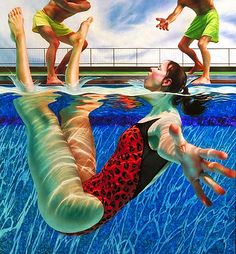 Sir John Lawes Art Faculty: Apart and or Together Underwater Edexcel 2015 Lorraine Shemesh - Jenn -Figures in swimming pools - figures that are both in the water and apart from it