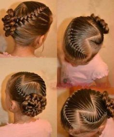 """I absolutely love this hairstyle. I really want Burton Burton """"Cute Girls Hairstyles"""" to do this. I think it would be so cute in hair Lil Girl Hairstyles, Cute Hairstyles For Kids, Princess Hairstyles, Pretty Hairstyles, Braided Hairstyles, Hairstyles 2016, Toddler Hairstyles, Beautiful Haircuts, Amazing Hairstyles"""