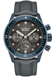 Blancpain Fifty Fathoms Bathyscaphe Flyback Chronograph Ocean Commitment II Watch Now In Blue Ceramic Case