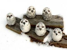 Raku Pottery White Owl Rattle Custom listing for Nancy