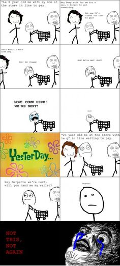 I remember being so nervous when my mom would do this! haha