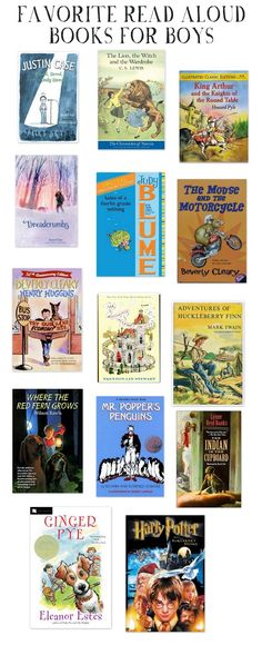 NINE + SIXTEEN: My Favorite Books to Read Aloud to Boys