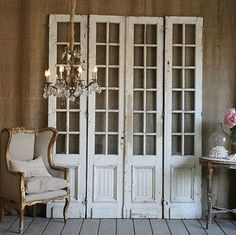 vintage french doors salvage | some antique bifold French doors like these to use as doors ...