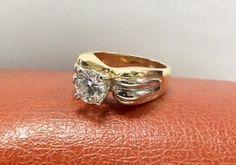 18k yellow and white gold accent diamond ring. #williamsjewellerstoronto