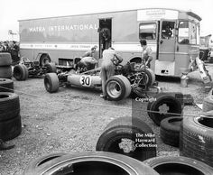 Mechanics working on a #Matra 4WD MS84 in the paddock, Silverstone, British Grand Prix 1969. #f1 #formula1