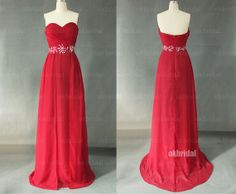 red prom dresses long red dress homecoming dress long by okbridal, $146.00