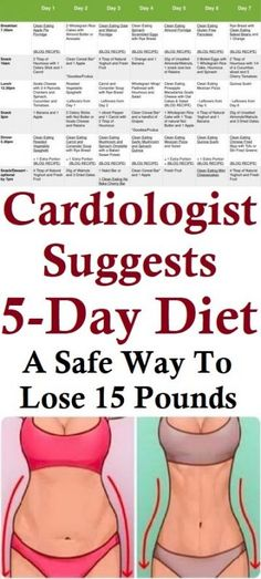 Cardiologist Suggests Diet: A Safe Way To Lose 15 Pounds - ! A Permanent Health Kick ! - Healthy Recipes and Fitness Community - Diet Belly Fat Diet Plan, Flat Belly Diet, Lose Belly Fat, Lose Fat, Diet And Nutrition, Health Diet, Health Fitness, Health Care, Health