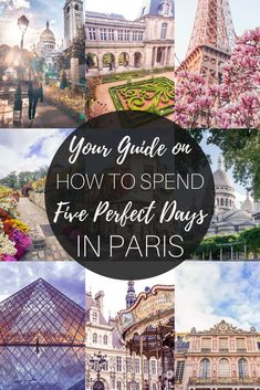 Your ultimate guide and itinerary on how to spend five days in Paris, France. Where you should go, what to eat, the best day trips from the French capital and more! European Travel, European Vacation, Travel List, Packing Tips For Travel, Europe Travel Tips, Travel Guides, Backpacking Europe, Travel Advice, Travel Destinations