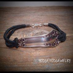 Spoon Bracelet Silverware Bracelet Leather Bracelet Handmade Bracelet Spoon…