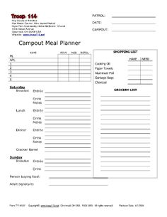 Template for boy scout camping trips google search for Girl scout calendar template