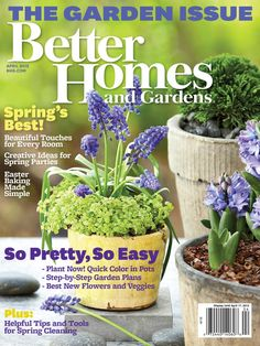 Our April issue is all about gardening! What will be blooming in your garden this year?