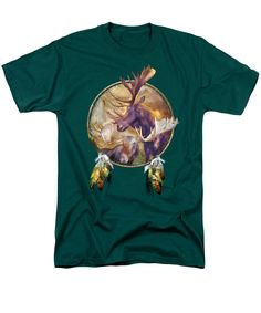 Spirit Of The Moose T-Shirt featuring the art of Carol Cavalaris. Different shirt styles, colors, and sizes available.