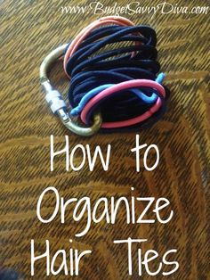 How to Organize Hair Ties - and possibly thwart the kitty's attempt at stealing them!!