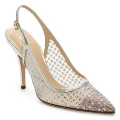 """Sparkly sling back... Fit for a duchess    Kate Spade """"Lynn"""" $328"""