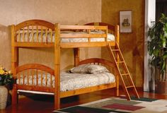 Product Information: - Twin Over Twin Bunk Bed - Color: Espresso or Oak…