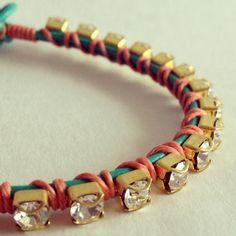Anwar Teal Bracelet.