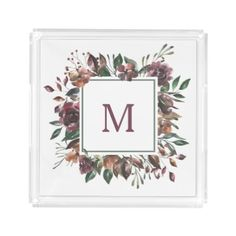 Spiced Botanical | Monogram Acrylic Tray - home gifts ideas decor special unique custom individual customized individualized