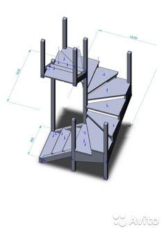Винтовая деревянная лестница в проём 1.6х1.6 метра— фотография №1