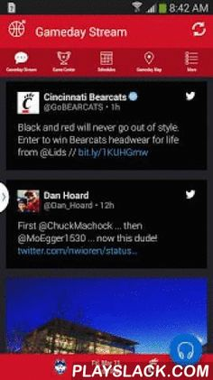 Cincinnati Bearcats Gameday  Android App - playslack.com ,  The official Cincinnati Bearcats Gameday application is a must-have for fans headed to campus or following the Bearcats from afar. With FREE LIVE AUDIO, interactive social media, and all the scores and stats surrounding the game, the Cincinnati Bearcats Gameday application covers it all! Features Include: + LIVE GAME AUDIO - Listen to free live audio for football games and other sports throughout the school year + SOCIAL STREAM…