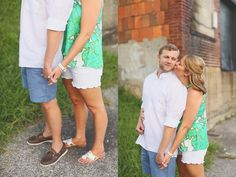 Julie + Daniel : A Birmingham Engagement Session : Summer