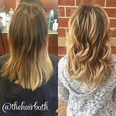 BEFORE & AFTER: beautiful balayage on my mamma today ❤️❤️❤️ @lanabuth #nofilter #spalon #spalonmontage #salon #hayleyatspalon #thehairbuth #cosmetology #cosmetologist #hair #haircut #haircolor #color #woodburyhair #job #career #askforhayley #loreal #lorealpro #cut #hairstylist #minnesotahair #twincities #licensedtocreate #naturallight #balayage