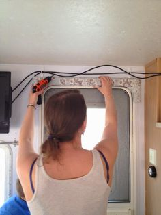 RV Glamper Renovation And Remodel:: Curtain Making And Valance Recovering/  Upholstering