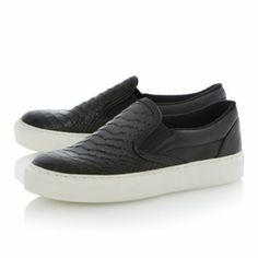 BERTIE LADIES PUTNEY - Textured Slip On Shoe With Vulcanised Sole By Bertie, available online at Dune London #dunelondon #bertie #trainers #shoes #croc #fashion #style