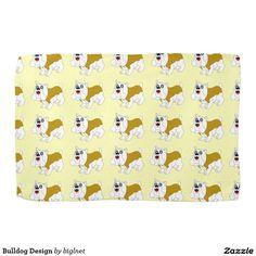 Bulldog Design Kitchen Towel