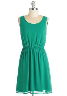 Vine for Your Affection Dress. This versatile jade-green sundress promises to win your adoration with a combination of simplicity and texture. #green #modcloth